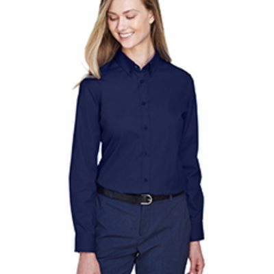 Core 365 Ladies' Operate Long-Sleeve Twill Shirt Thumbnail