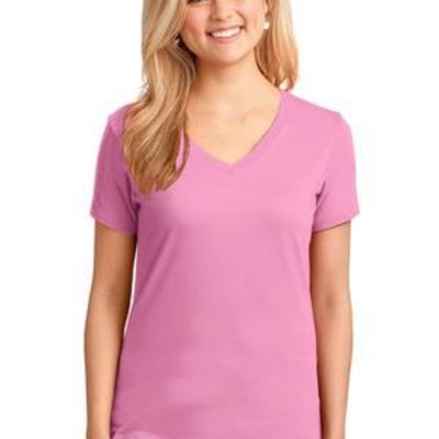 port and Company Ladies Core Cotton V Neck Tee Thumbnail